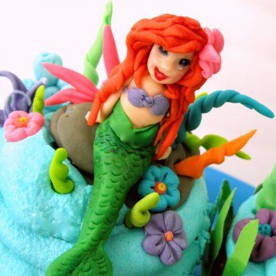 Under the sea….Little Mermaid cupcakes