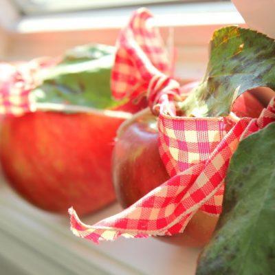 Freshly picked apple bunting…
