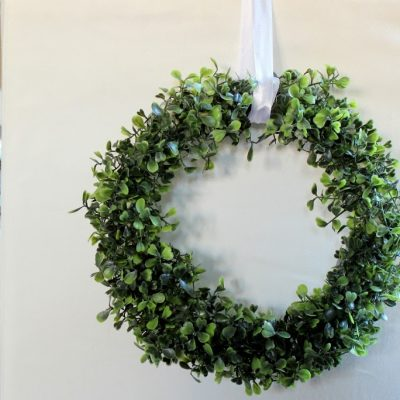 Faux Boxwood mini wreath tutorial…