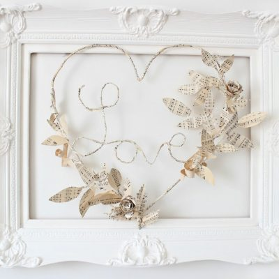 Sharing a little bit of love…..a paper wreath