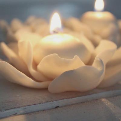 Escaping through art…(cold porcelain tea light holder)