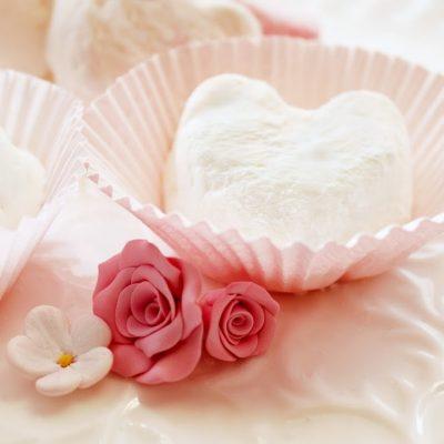 Marshmallow conversation hearts