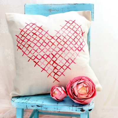 Painted Cross Stitch Pillow and Locks of Love…