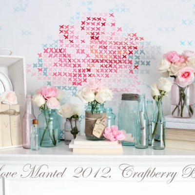 Something old, something new, something borrowed, something blue…a Valentine Mantel