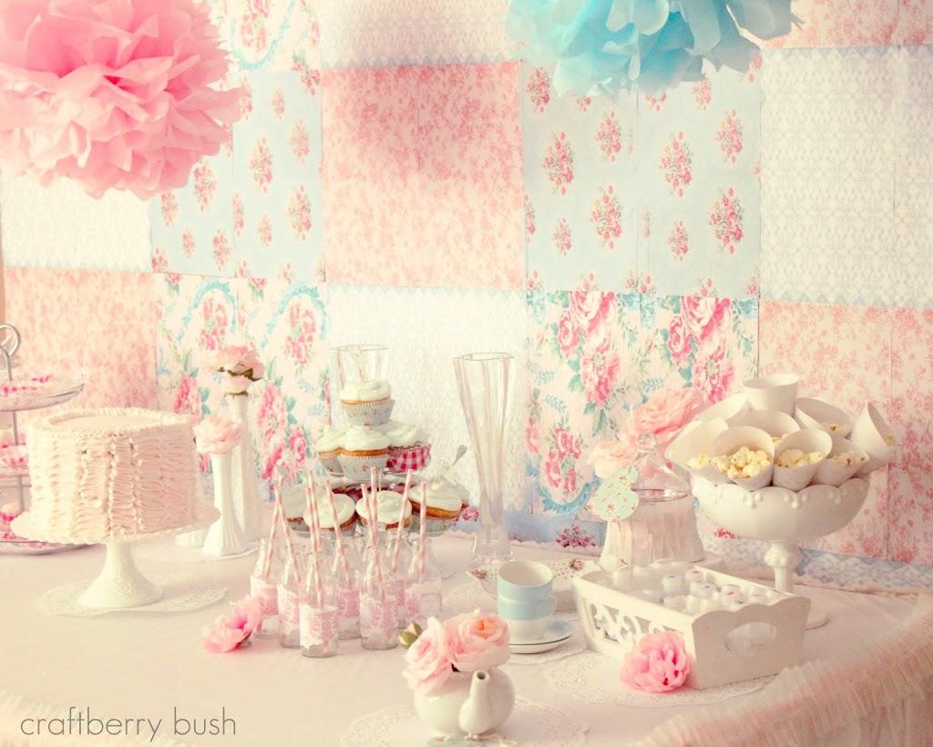 a shabby chic princess tea party. Black Bedroom Furniture Sets. Home Design Ideas