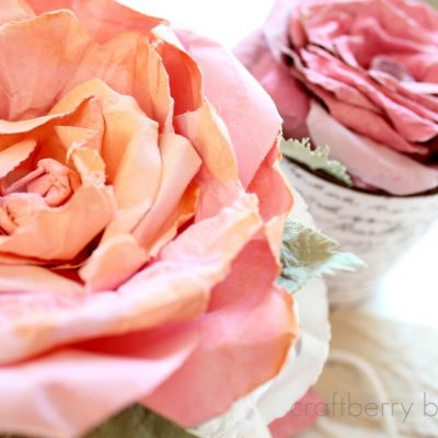 Love blooms…faux Mulberry watercolor paper rose tutorial