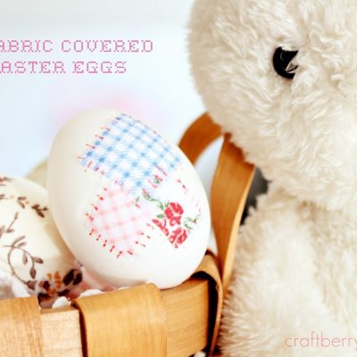 Fabric Covered Eggs and a new winner….