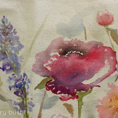 Watercolour on Canvas and a little surprise…