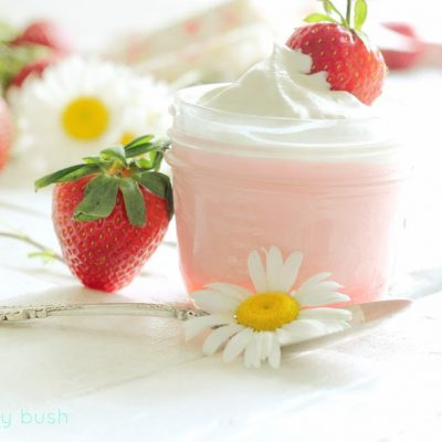 Healthy Strawberry Mousse with Coconut Milk whip topping…