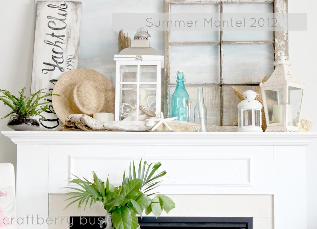 my summer mantel rh craftberrybush com Summer Wreath Boxwood Fireplace Mantle Summer Wreaths