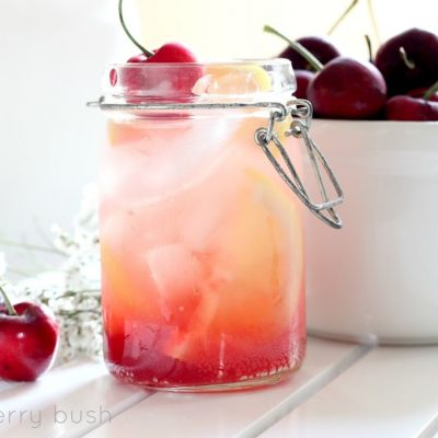Cherry Syrup Lemonade…two ways
