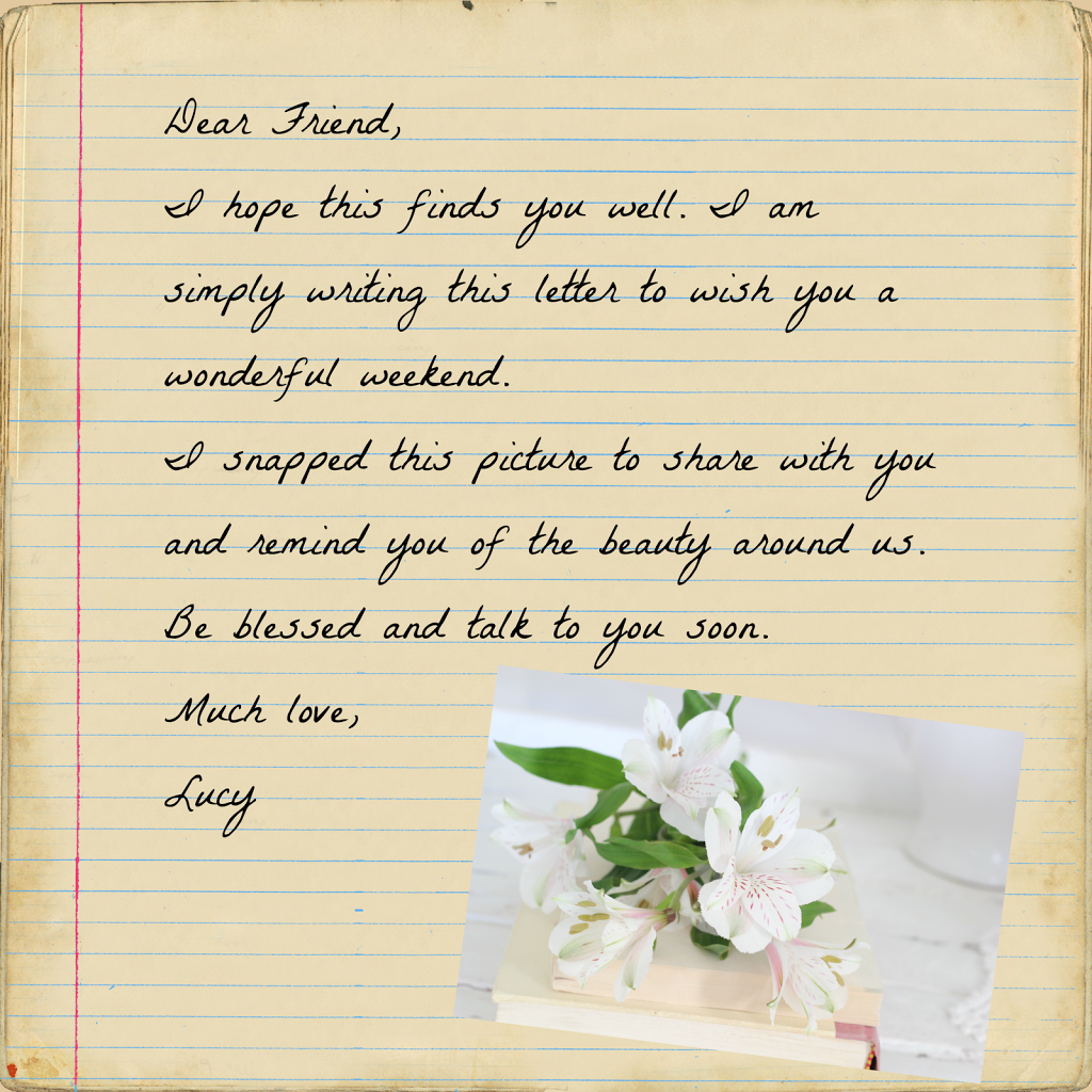 Special Letter To The One I Love