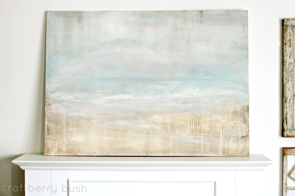 Great A little while ago I had prepared a tutorial of the painting I used for my summer mantel As most of you know I um not always fortable sharing my art and