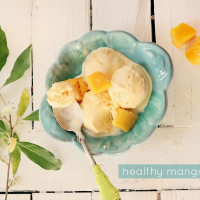 Healthy mango sorbet…