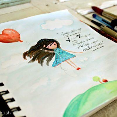 A peek into my sketchbook….