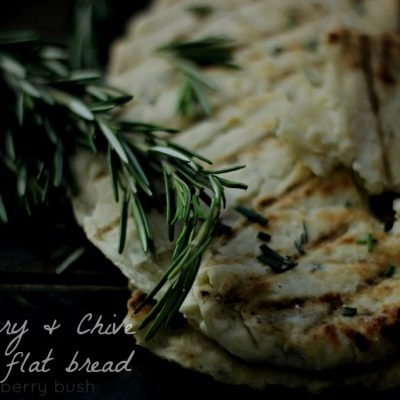 Rosemary and Chives flat bread…