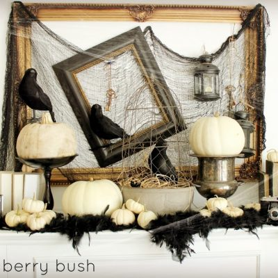 Halloween Mantel and a Linky Party…