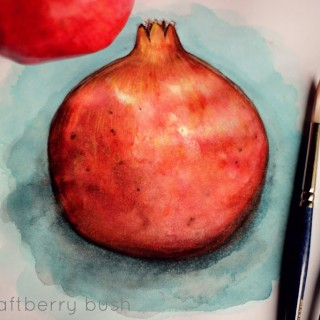 pomegranatewatercolor