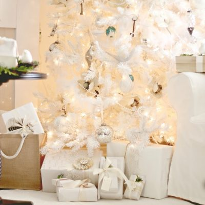 The white Christmas tree….