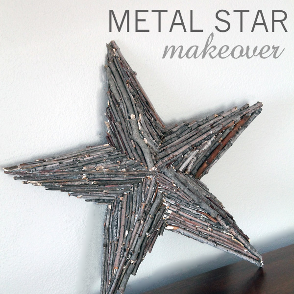 Metal Star Makeover with Title