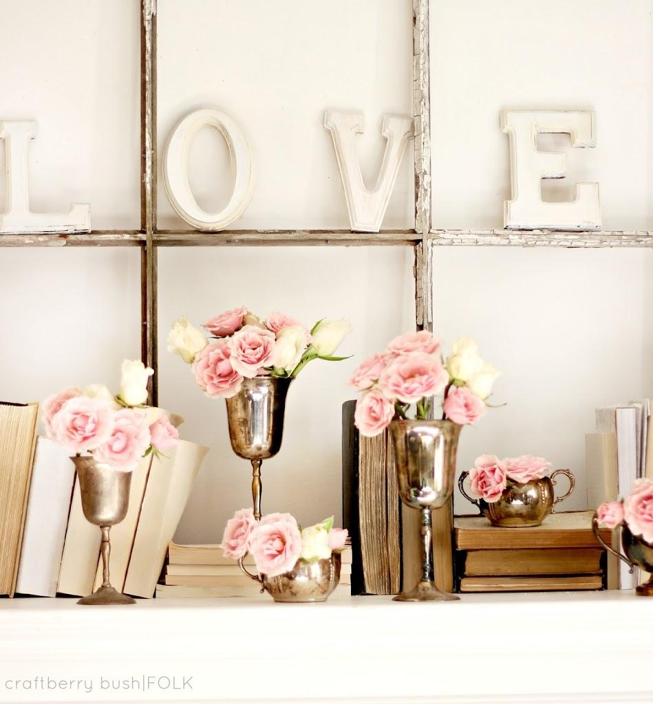 Home Decor Shops: Valentine's Day Mantel