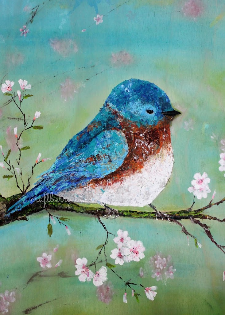 how to use a palette knife with acrylics