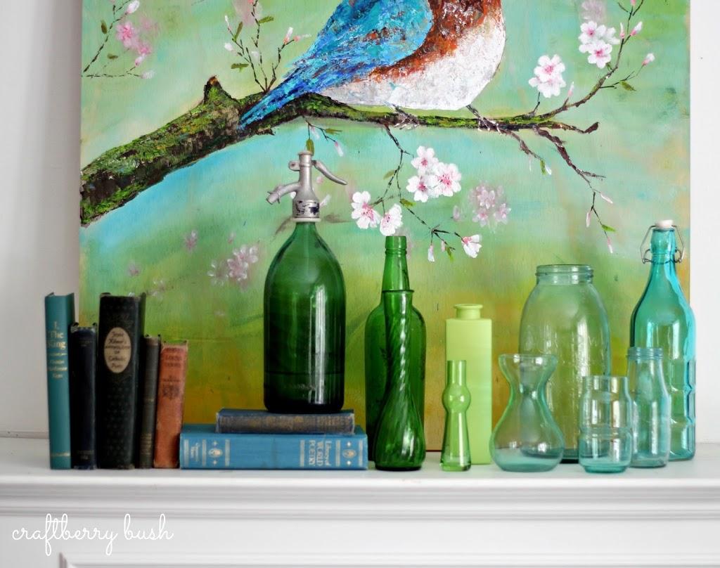 Palette Knife Acrylic Painting Blue Bird