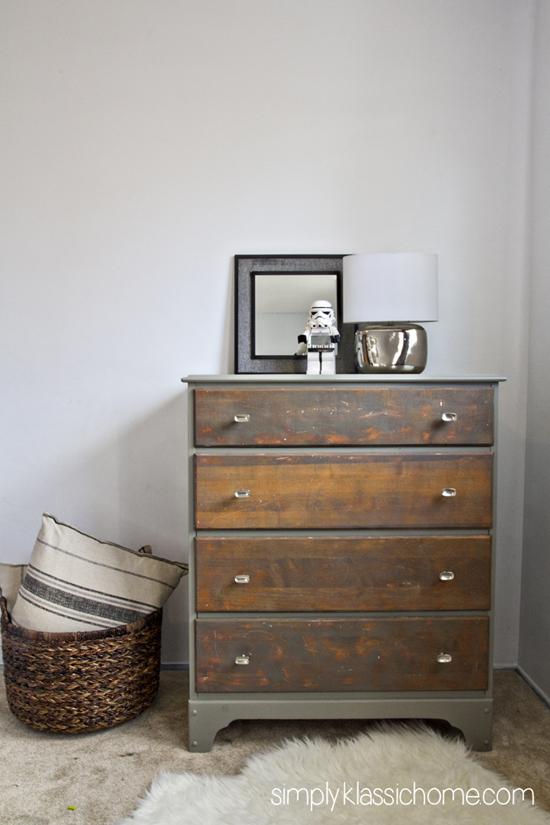 two tone dresser drawer full closed