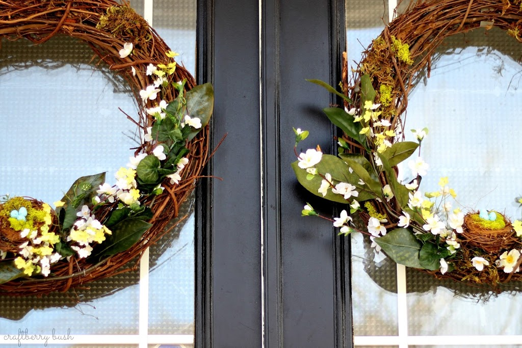 Our Front Porch Has Double Doors So I Needed Something A Little More Frugal Already Had One Of The Grapevine Wreaths Ventured To Michaels Buy