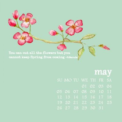 Free Desktop Watercolor Calendar – CORRECTED