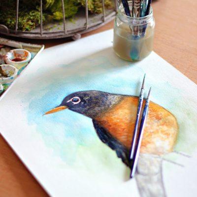 A Peek into my Sketchbook – Watercolor Painting