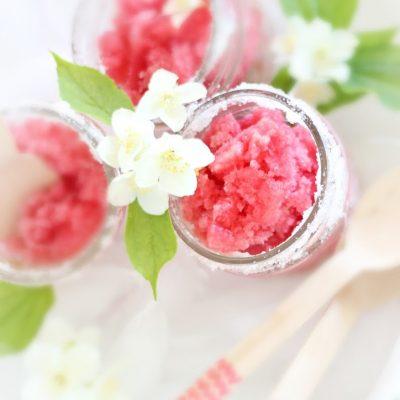 Strawberry Rhubarb Granita – an Easy Summer Treat
