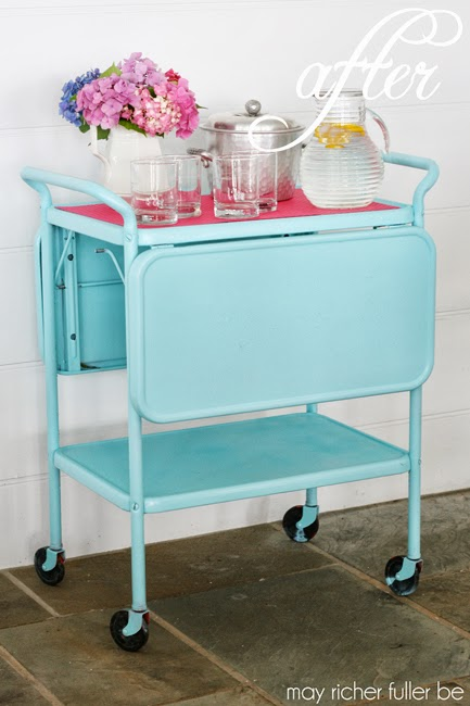 Vintage-Kitchen-Cart-Makeover-After