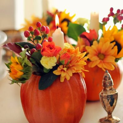 Traditional Autumn Centrepieces Using Grocery Store Flowers