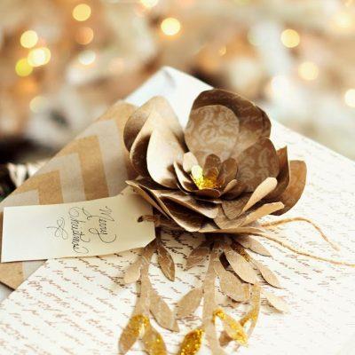 Christmas Paper Flower Tutorial