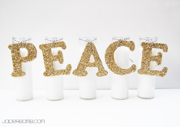 Glittered Peace letters