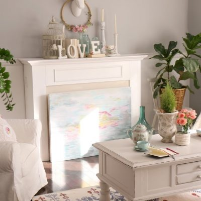 What's your style? series – Valentine's day mantel