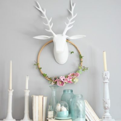 Watercolor flower paper wreath
