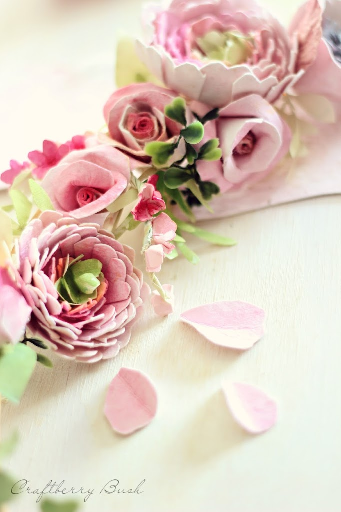 Watercolor flower paper wreath mightylinksfo