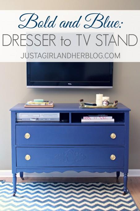Blue Dresser to TV Stand