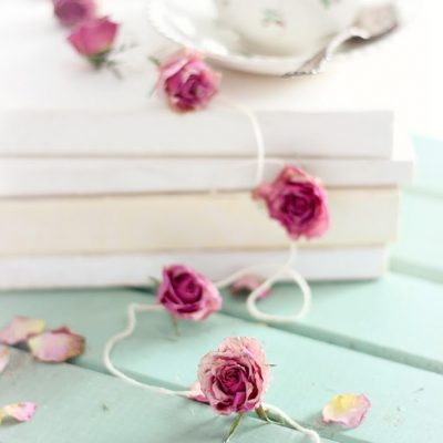 Dried rose garland