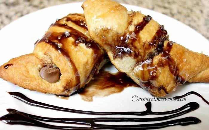 Salted Caramel Chocolate Cressent Rollsuse