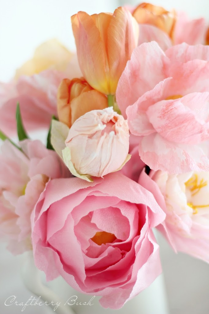Crepe peony tutorial i wanted to have varying shades of pinks yellows and oranges mightylinksfo Gallery