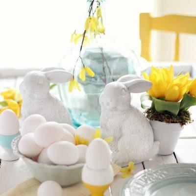 Pottery Barn inspired ceramic bunny