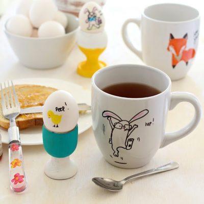 Draw your own ceramic bunny mug  ( free printables)