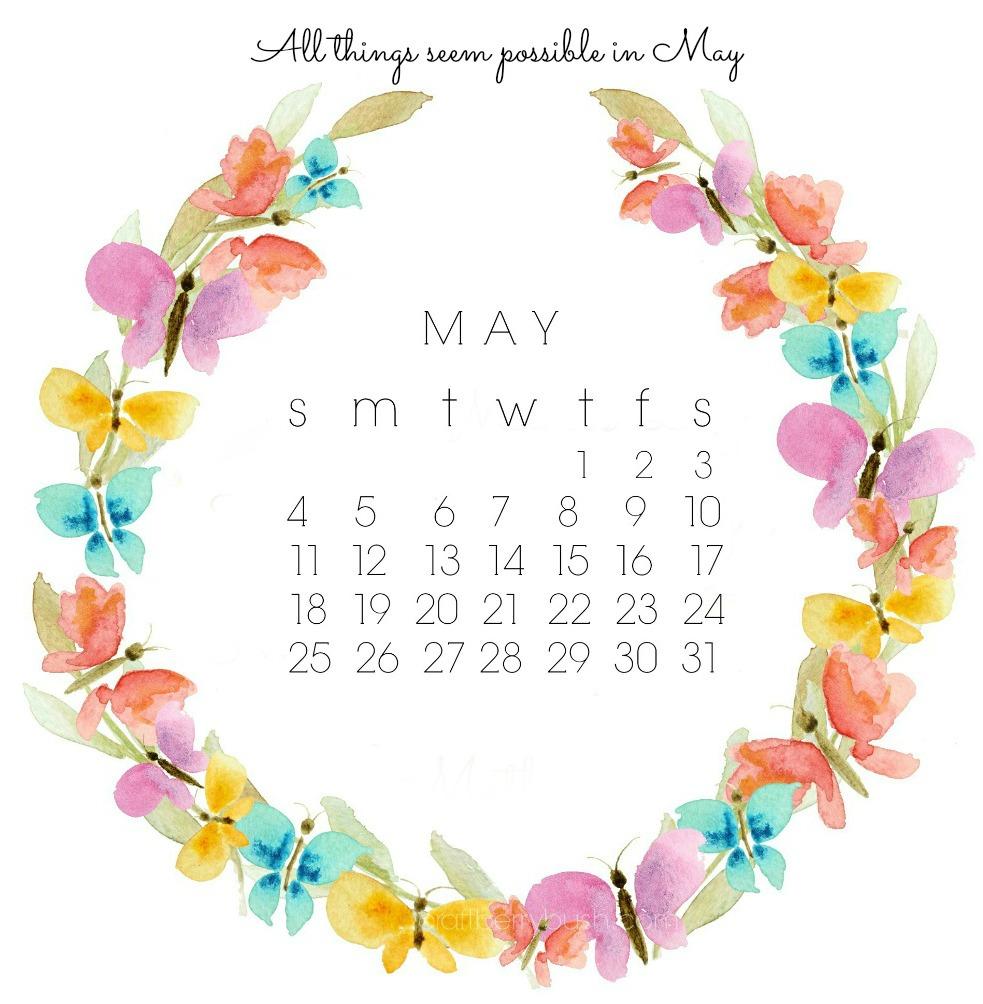 Desktop Wallpaper January 2014: Free May Desktop Calendar And Watercolor Clipart