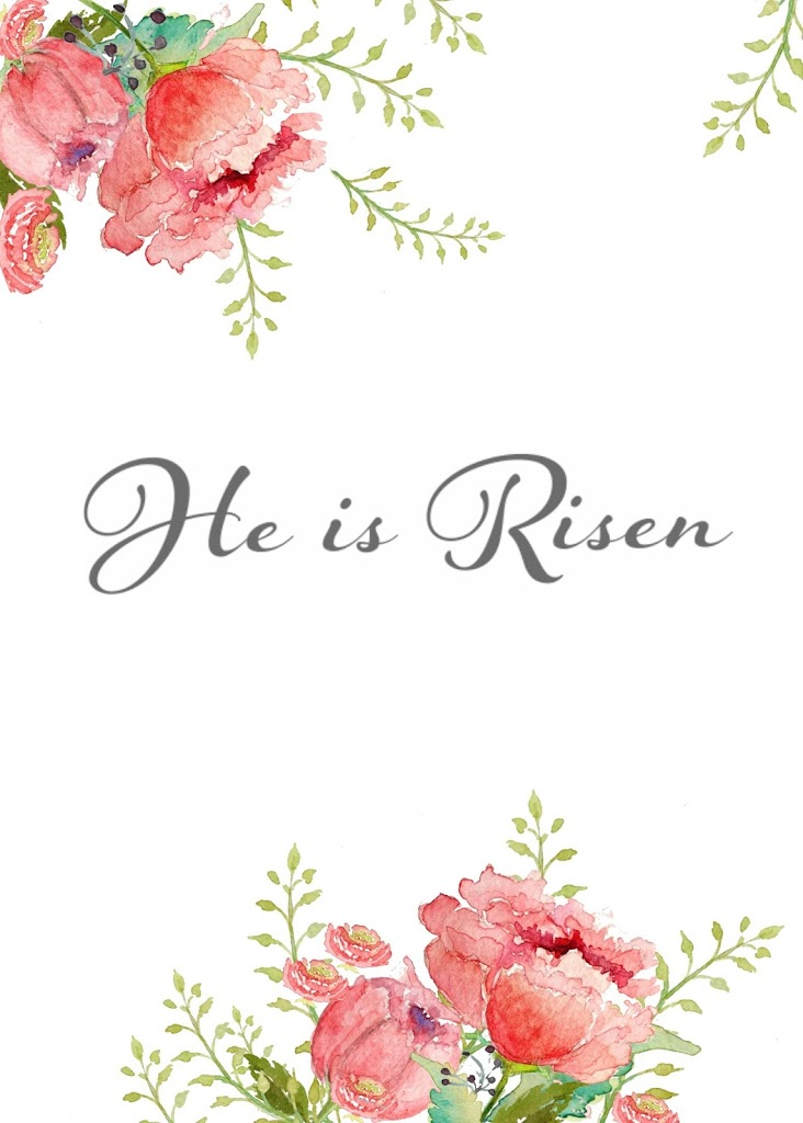 He Is Risen Free Watercolor...