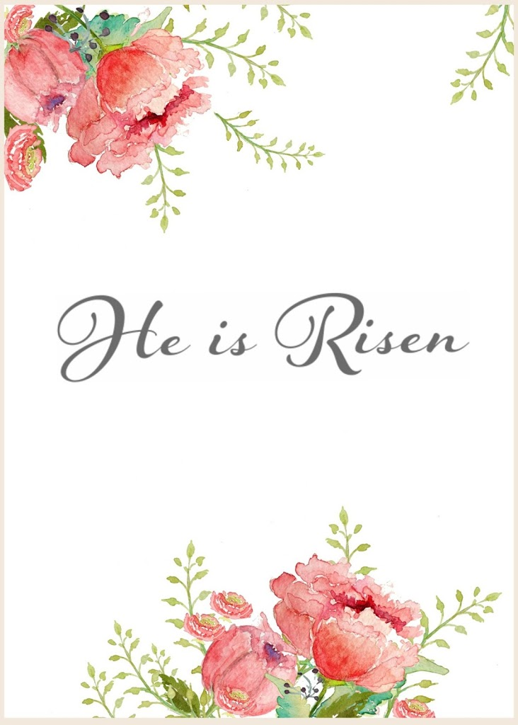 image relating to He is Risen Printable named Cost-free Watercolor Easter Printable