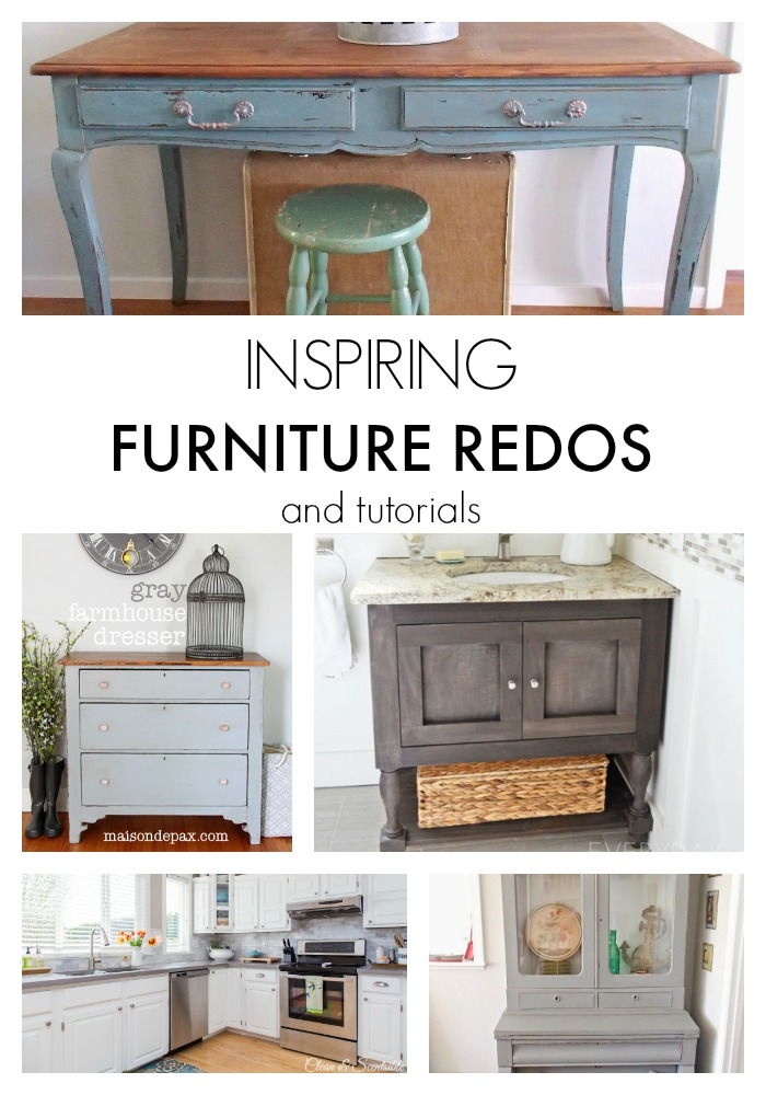 Inspiring Furniture Redos and Tutorials
