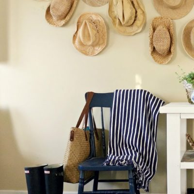 Rustic Sideboard and Hat Wall – Inspire Me DIY Challenge Reveal
